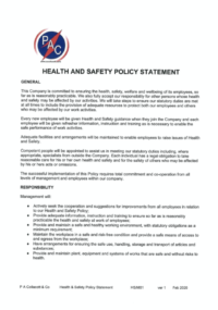 Hs M01 Health Safety Policy Statement 2020 Signed